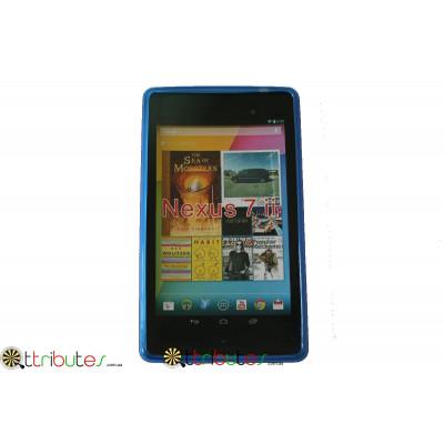 Чехол Asus Google Nexus 7  2 (2013) Spider силиконовый blue