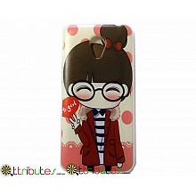 Чехол Meizu M2 mini 5.0 Silikon print case girl