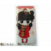 Чехол Meizu M2 mini 5.0 Silikon print case girl peace