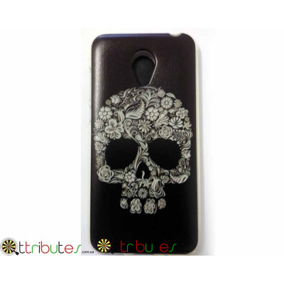 Чехол Meizu M2 mini 5.0 Silikon print case skull