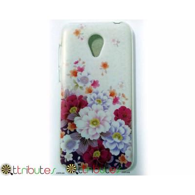 Чехол Meizu M2 mini 5.0 Silikon print case flowers