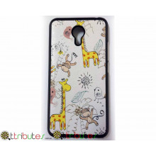 Чехол Meizu M2 note 5.5 Print case giraffe-monkey