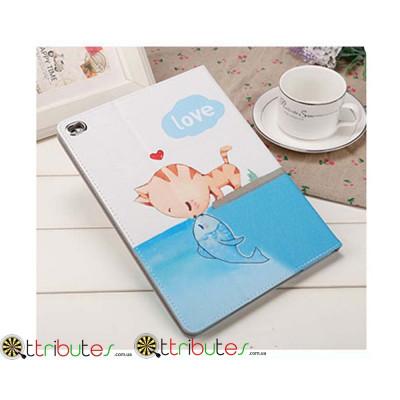 Чехол Apple iPad Air 2 9.7 Print book cover cat