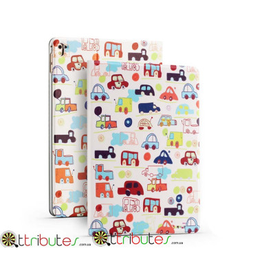 Чехол Apple iPad pro 9.7 Print book cover white cars