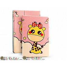 Чехол Apple iPad pro 9.7 Print book cover pink giraffe