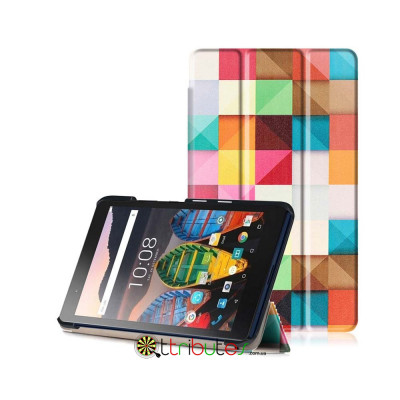 Чехол Lenovo Tab 3 Plus TB-8703X 8.0 Print ultraslim square