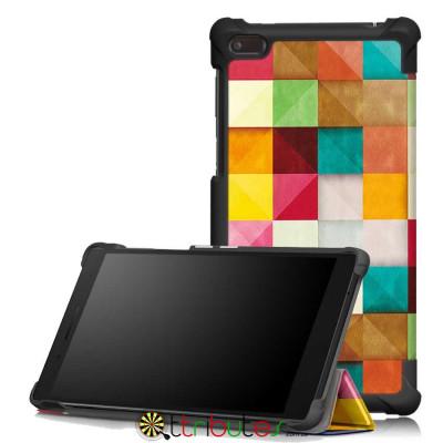 Чехол Lenovo Tab 4 TB-7504X 7.0 Print ultraslim square