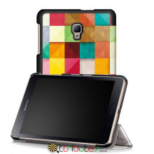 Чохол Samsung Galaxy Tab A 8.0 2017 SM-T385 & T380 Print ultraslim square