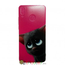 Чехол HUAWEI P20 Lite 5.8 Print Silicone cat pink