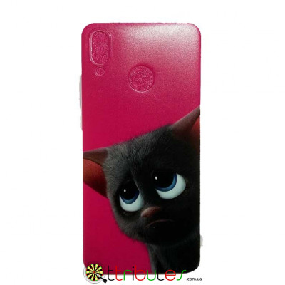 Чохол HUAWEI P20 Lite 5.8 Print Silicone cat pink