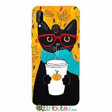 Чехол HUAWEI P20 Lite 5.8 Print Silicone cat in glasses