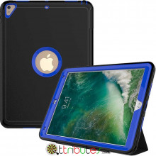 Чехол Apple iPad 2017 2018 9.7 Armor book cover black-dark blue