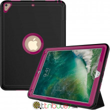 Чехол Apple iPad 2017 2018 9.7 Armor book cover black-purple
