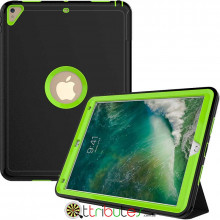 Чехол Apple iPad 2017 2018 9.7 Armor book cover black-apple green