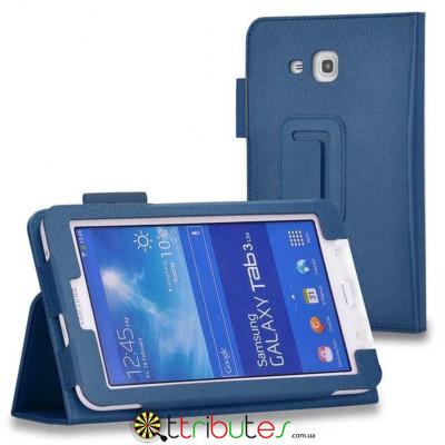 Чехол SAMSUNG GALAXY tab3 lite 7 t110, T111 Classic book cover dark blue