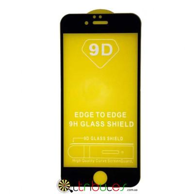 Закаленное стекло 9D tempered glass 9h  для iphone 6 4.7 black