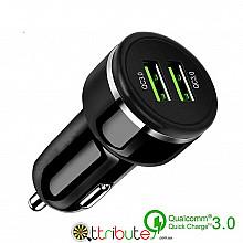 Автомобильная зарядка Quick charge 3.0 black