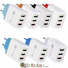 Блок 3 ports quick charge AR-QC-03