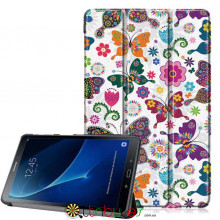 Чехол Samsung Galaxy tab a 10 t580 t585 Print ultraslim butterfly