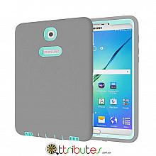 Чехол Samsung Galaxy Tab S2 9.7 SM-t819 t813 t810 t815 Armor gum book cover grey-mint green