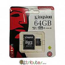 Kingston карта памяти 64GB MicroSD XC1 для планшета смартфон