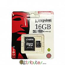 Kingston карта памяти 16GB MicroSD XC1 для планшета смартфон