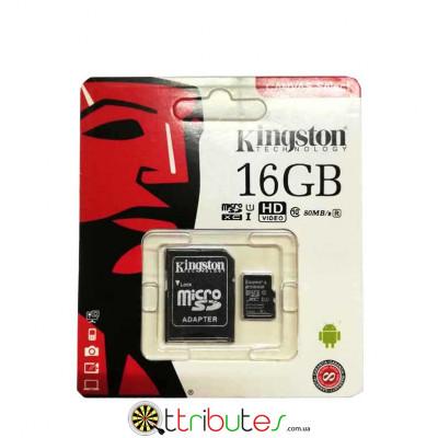 Kingston карта пам'яті 16GB MicroSD XC1 для планшета смартфону