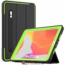 Чохол iPad 2019 10.2 Armor book cover black-apple green