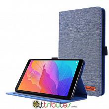Чехол HUAWEI Matepad T8 8.0 KOBE2-W09A Textile fashion book dark blue