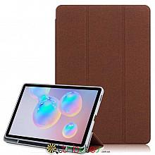 Чехол Samsung Galaxy Tab S6 lite 10.4 sm-p610 Textile stylus book brown