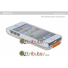 Чехол iPhone 5 & 5s Hoco Leather Case Duke Flip Top White