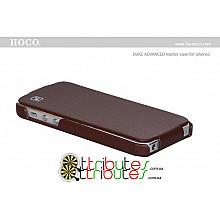 Чехол iPhone 5 & 5s Hoco Leather Case Duke Flip Top Brown