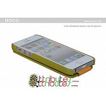 Чехол iPhone 5 & 5s Hoco Leather Case Duke Flip Top Apple green