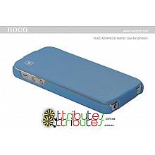 Чехол iPhone 5 & 5s Hoco Leather Case Duke Flip Top Blue