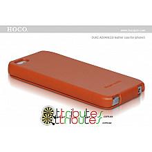 Чехол iPhone 5 & iPhone 5 s Hoco Leather Case Duke Flip Top Orange