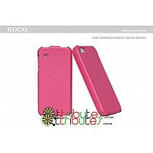 Чехол iPhone 5 & 5s Hoco Leather Case Duke Flip Top rose red