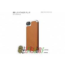 Чехол iPhone 5 & 5s orange (ELS5LE-FL-OR-RT) Elago S5 Genuine leather pocket