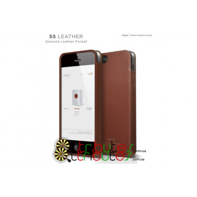 Чехол накладка iPhone 5 & 5s Elago S5 Genuine leather pocket brown