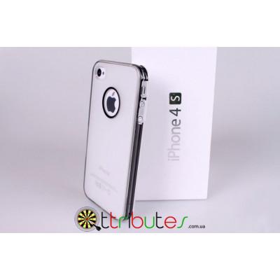Чехол накладка для iPhone 4/4s серая