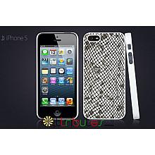 Чехол iPhone 5 GGMM Genuine leather Glamour Split White