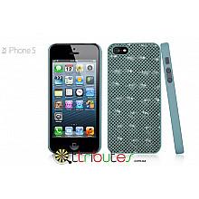 Чохол iPhone 5G GMM Genuine leather Glamour Cross Green