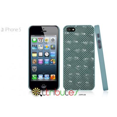 Чехол iPhone 5G GMM Genuine leather Glamour Cross Green