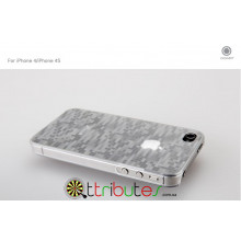 Накладка-чехол для iPhone 4s GGMM Digtal Crystal White