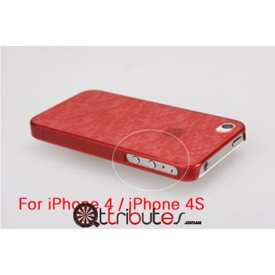 Накладка-чехол для iPhone 4s GGMM Digtal Garnet