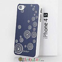 Накладка-чехол для iPhone 4s GGMM Engrave-Balloon Blue / white