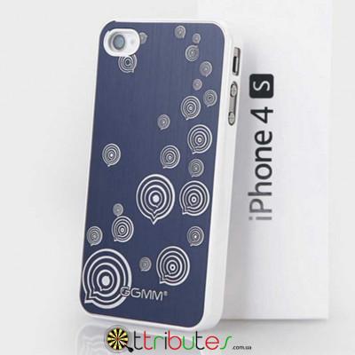 Накладка-Чохол для iPhone 4s GGMM Engrave-Balloon Blue / white
