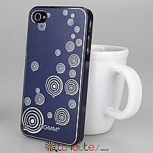 Накладка-чехол для iPhone 4s GGMM Engrave-Balloon Blue / blue