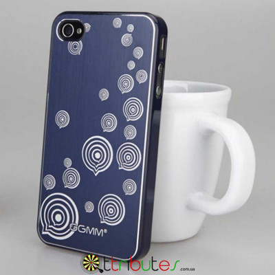 Накладка-чехол для iPhone 4s GGMM Engrave-Balloon Blue / blue