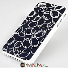 Накладка-чехол для iPhone 4s GGMM Engrave-Cocoon Blue / white