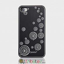 Накладка-чехол для iPhone 4s GGMM Engrave-Balloon Black / black